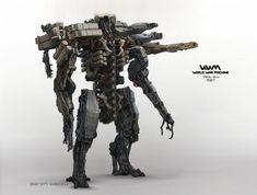 World War Machine Robot Concept Art by Aaron Beck
