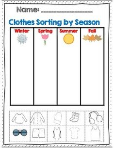 Weather-and-Seasons-Unit-60-pages-with-Assessments-1040775 Teaching Resources - TeachersPayTeachers.com