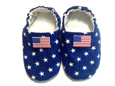 July 4th Baby Boy Shoes Baby Booties Baby Gift by ShoesbySusie, $24.00