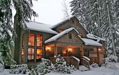 These Oregon cabins are the perfect getaway during the winter.