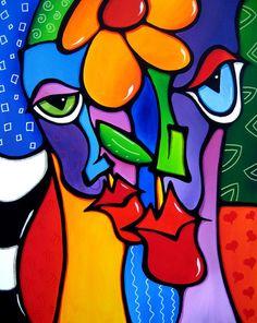 Art: 2430 Original Abstract Art Painting Open Up by Artist Thomas C. Pop Art Collage, Modern Art Movements, Abstract Face Art, Chicago Artists, Artist Portfolio, Watercolor Artists, Arte Pop, Abstract Photography, Art Plastique