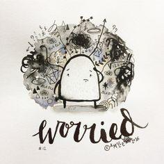 Worried - by Camille Medina #inktober #inktober2016