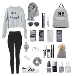 """""""Gray"""" by irie-aukett ❤ liked on Polyvore featuring Topshop, Joshua's, adidas, Midsummer Star, Olivia Burton, Penny Preville, Vivienne Westwood, CellPowerCases, Gypsy Warrior and Me to We"""