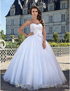 Wholesale Wedding Dresses - Buy Custom Made! Christmas White Chiffon Ball Gown Wedding Dresses Bridal Party Dresses Wedding Attire Dresses SZ 2-10-20 BW1126418, $147.25 | DHgate
