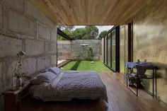 Sawmill House by Archier Concrete blocks