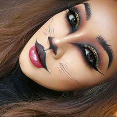 Pin on Halloween makeup Pin on Halloween makeup Lion Makeup, Animal Makeup, Cat Makeup, Tiger Makeup, Fairy Makeup, Mermaid Makeup, Mermaid Hair, Makeup Art, Alien Halloween Makeup