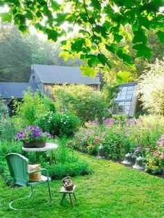 Beautiful French country garden