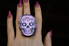 Custom Color Sugar Skull or Day of the Dead Skull by emikoshop, $12.00