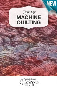 Ideas for how you can practice to become a better machine quilter >> www.nationalquilterscircle.com/video/machine-quilting-techniques-and-tips