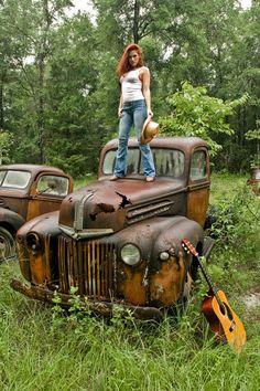 Country Girls On Trucks On Pinterest Old Trucks Trucks