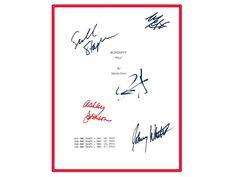 Blindspot TV Script Signed Jaimie Alexander, Sullivan Stapleton, Ashley Johnson, Johnny Whitworth, Michael Gaston