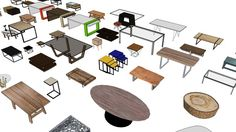Model of โต๊ะกลาง Center Table Couch Table, Table And Chairs, Sketch Up Architecture, Coffee Table 3d, Table Sketch, 3d Sketch, Sketches, Central Table, Small Bathroom Layout