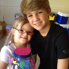 mattyb and his sis sarah grace!:)❤