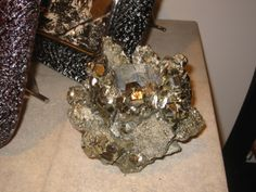 Pyrite crystal votive