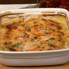 Made this for bunco and they loved it!! Sweet potato gratin. if you use 9 x 12 pan double the sauce