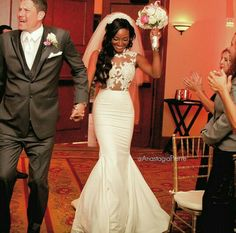 Beautiful interracial couple on their wedding day #love #wmbw #bwwm