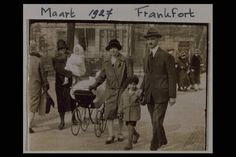 The Frank family had its roots in Frankfurt am Main in western Germany. This photo shows Anne, her older sister Margot, and her parents Edith and Otto Frank in Frankfurt. Though it is dated 1927, the photo must have been taken later because Anne was born in 1929. The family fled Germany for Holland when the Nazis took power in 1933. She and her family spent two years hiding in Amsterdam from the Nazis, before being betrayed and transported to concentration camps. She died at the…