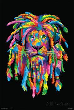 Lion Rasta Prints - AllPosters.co.uk