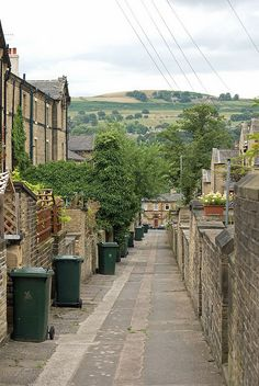 Alley, Saltaire, Yorkshire, England