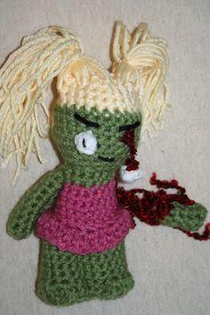Cheery Girl Zombie by FreaksInYarn on Etsy, $12.50 #MMMakers