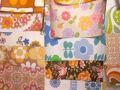 Vintage 1970s Wallpaper Craft Pack. via Etsy.