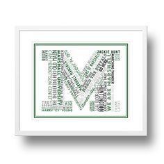 Marshall University Typographical Art Print by afranksdesigns John Marshall, Marshall University, Subway Art, Take Me Home, Art Prints, Handmade, House Divided, Stuff To Buy, Etsy