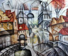Old Gate by Eugene Ivanov  #eugeneivanov #cubism #avantgarde #threedimensional #cubist #artwork #cubistartwork #abstract #geometric #association #@eugene_1_ivanov