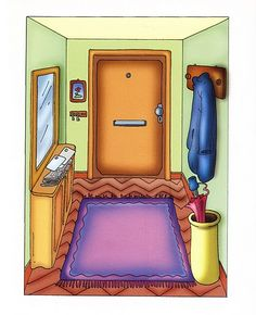 TOUCH this image to discover its story. Image tagging powered by ThingLink Spanish Lesson Plans, Spanish Lessons, Spanish Classroom, Teaching Spanish, Elf Door, English Activities, Pics Art, Spanish House, Paper Houses