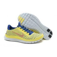 Bedst Nike Free 3.0 V4 Gul Blå Dame Skobutik | Nye Ankomst Nike Free 3.0 V4 Skobutik | Nike Free Skobutik Til Salg | denmarksko.com