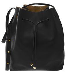 'Julie' Bag in Black w/gold trim by Valenz Handmade