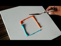 Easy Abstract Painting/Playing around with Acrylic Paints/Satisfying/Dem...