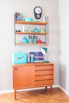 Retro Sideboard, Teak Sideboard, Interior Ideas, Interior Design, Arne Jacobsen, Retro Style, Vintage Furniture, Kitchen Dining, Sweet Home