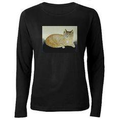 Tabby Cat Women's Long Sleeve Dark T-Shirt > Feline T-Shirts > The Great Cat Store