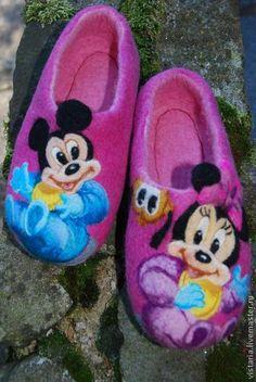Обувь ручной работы. Ярмарка Мастеров - ручная работа Тапочки  детские «Маусы». Handmade.