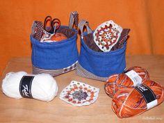 Peťčino potvořeníčko: Textilní košík ze zbytku nohavic