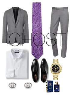 """James St.Patrick is Ghost from the Starz tv series POWER!!!"" by monet-3 ❤ liked on Polyvore featuring Canali, The Kooples, Lands' End, David Jones, Rolex and Versace"