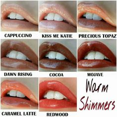 Warm lips colors! #lipsense