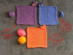 Knit Squares - Free Pattern - Loom A Hat