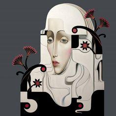 Slava Fokk's Surreal Art Deco Inspired Paintings Art Deco, Art Nouveau, Madonna, Modern Art, Contemporary Art, Vladimir Kush, Josephine Wall, Surrealism Painting, Thomas Kinkade