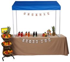 Table Top Canopy | 6 Foot or 8 Foot Wide Design Modular Table, Fabric Awning, Custom Canopy, Portable Table, Market Stalls, Store Displays, Outdoor Events, Craft Fairs, Farmers Market