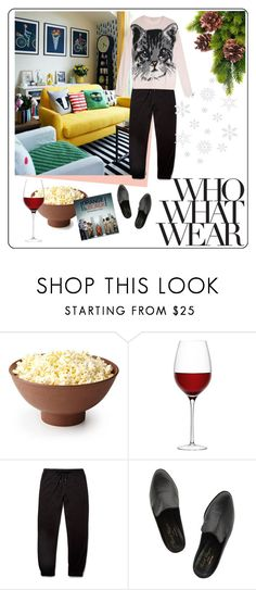 """""""What to Wear: Netflix Binge"""" by ritabonbon ❤ liked on Polyvore featuring Who What Wear, LSA International, John Smedley, Robert Clergerie and Paul & Joe Sister"""