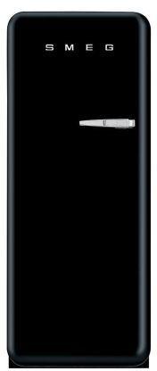 SMEG retro Single-Door Refrigerator with Freezer Compartment, Left-Hand Hinge  , black pins, black board, black, the color black, black color palette, black theme, black color scheme, black things, black aesthetic, black appliance ( affiliate )