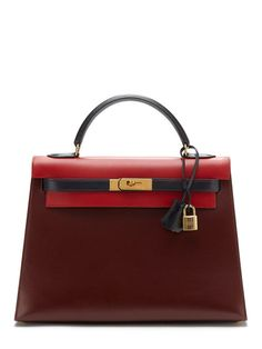 664ee867d446 Rare Rouge H Tricolor Box Kelly Sellier 32cm by Hermès at Gilt Hermes Bags