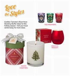 Cadillac, Pillar Candles, Candle Jars, Indigo, Centre Commercial, Holiday Wishes, Cute Gifts, Stocking Stuffers, Nice Things