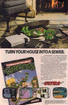 NES Ninja Turtle game ad