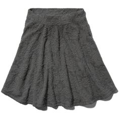 Abercrombie & Fitch Marybeth Skater Skirt (65 CAD) ❤ liked on Polyvore featuring skirts, bottoms, flared skirt, elastic waist skirt, flared skater skirt, rayon skirt and knee length skater skirt