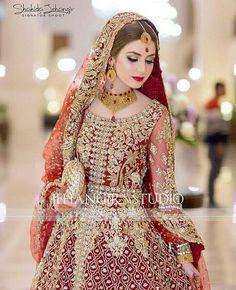 Bridal Photoshoot by Pakistani Photographer Jahangir Studio - Red Bridal Dress by Pakistani Designer in UK Bridal Mehndi Dresses, Walima Dress, Asian Bridal Dresses, Shadi Dresses, Pakistani Wedding Outfits, Indian Bridal Lehenga, Indian Bridal Fashion, Bridal Dress Design, Pakistani Bridal Dresses
