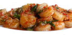 https://flic.kr/p/8dsm3K   Sichuan Shrimp   <b>Sichuan Shrimp</b>  Quickly strirfy : 2 chopped cloves of garlic  2 T chopped ginger 3 T chopped red onion  Then add : 400 gr peeled gamba's/shrimp  Stirfry for a minute, then add 1 T light soysauce 1 T chinese black vinegar 1 T tomoto ketchup 1 T chilibeanpaste (toban jiang) 1 t sugar 3 T chickenstock  Bring to the boil and simmer for another minute or so. Then add : 1 t rice vinegar 1 spring onion, chopped 2 red chillies, chopped 1/2 t sesame…