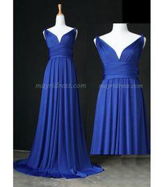 Full Length Infinity Dress Wrap Convertible Dress Evening Bridesmaid Maxi Dress Navy Blue