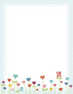 Heart Flower Border